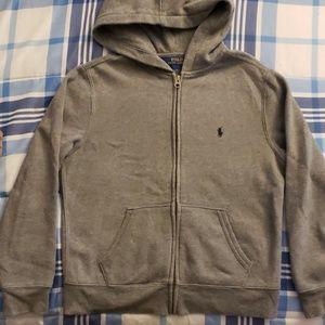 Boys Polo Hooded Sweater